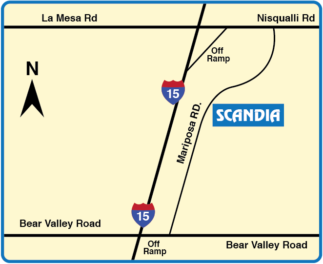 Map of Scandia Ontario Location